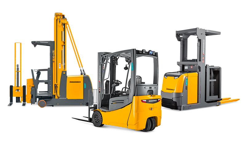Jungheinrich narrow aisle equipment lineup